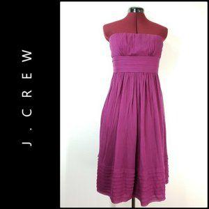 J.Crew Woman Sleeveless Ruched Strapless Dress 6